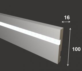 Плинтус для подсветки 10 см