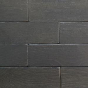 Серый - Кирпичик Woodbrick - стеновая панель из дуба