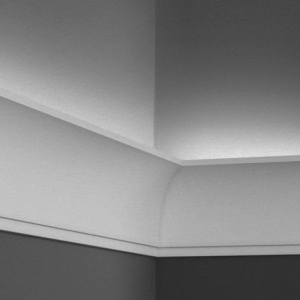 Карниз Kz100L для скрытой подсветки 10 см, дюрополимер