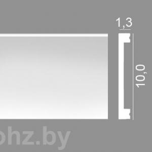 Nz100 напольный плинтус из дюрополимера 10 см. Влагостойкий, ударопрочный.
