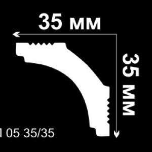 Плинтус потолочный Дебагет П05 35х35