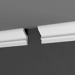 Плинтус потолочный Дебагет П16 55х25, подходит для натяжного потолка