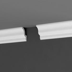 Потолочный плинтус из полистирола П17 55х25 мм, подходит для натяжного потолка