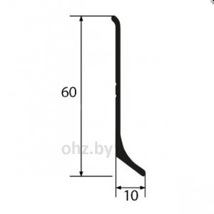 Алюминиевый плинтус 6 см