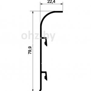 PK80 алюминиевый плинтус 80мм