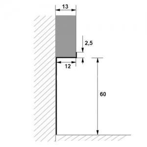 Размеры плинтуса ПТ1-60